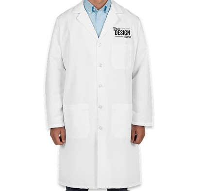 Red Kap Full Button Lab Coat - White