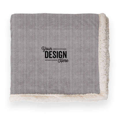 Kanata Original Lambswool Blanket - Herringbone Gray