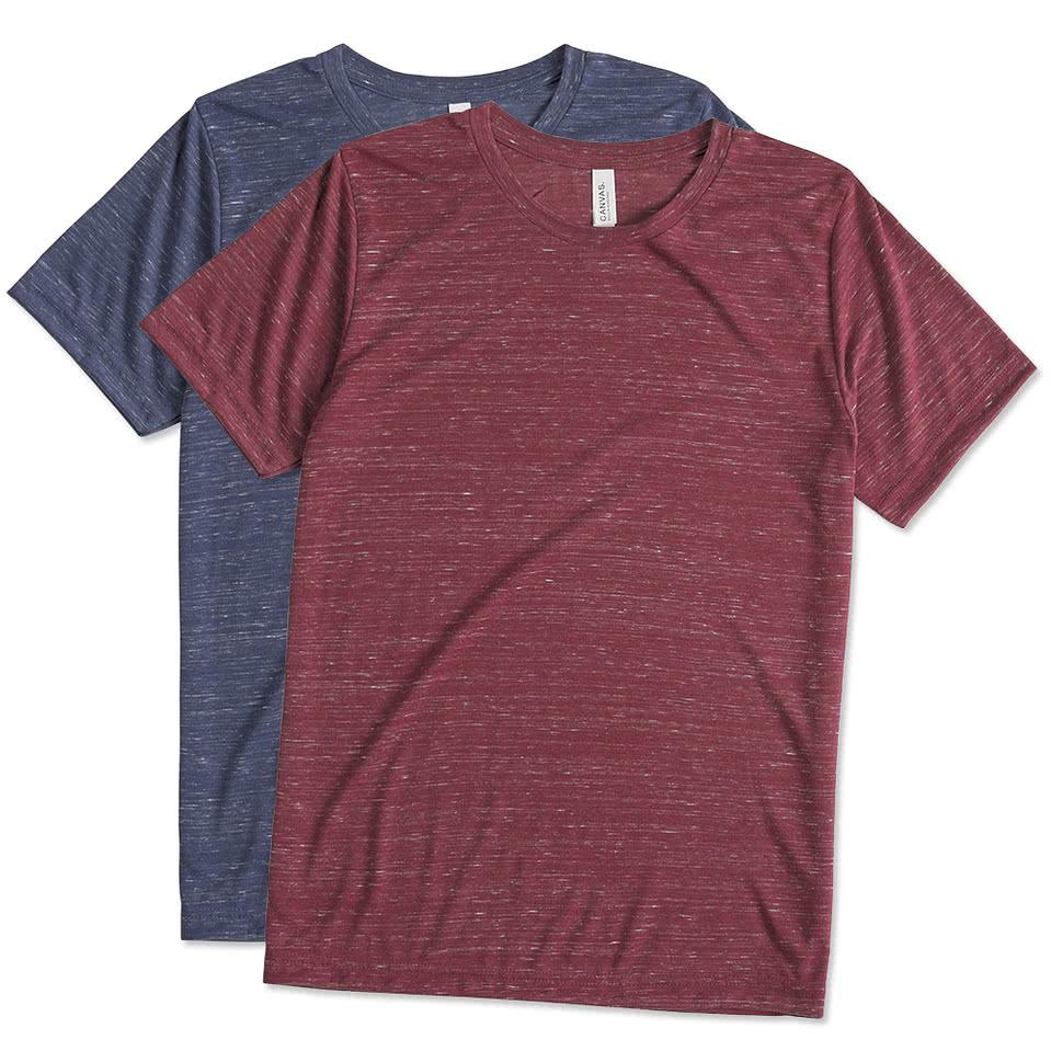Design Canvas Melange Blend T Shirt Online At Customink