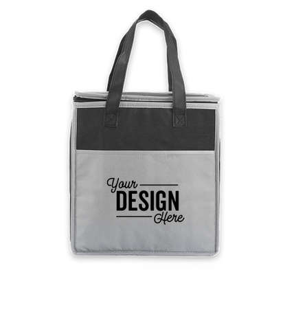 Insulated Non-Woven Grocery Tote Bag - Gray