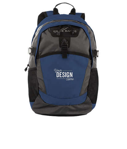 Eddie Bauer Ripstop Backpack - Coastal Blue / Grey Steel
