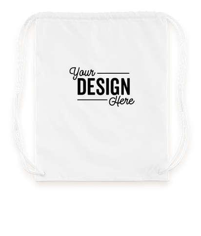 Multicolor Drawstring Bag - White