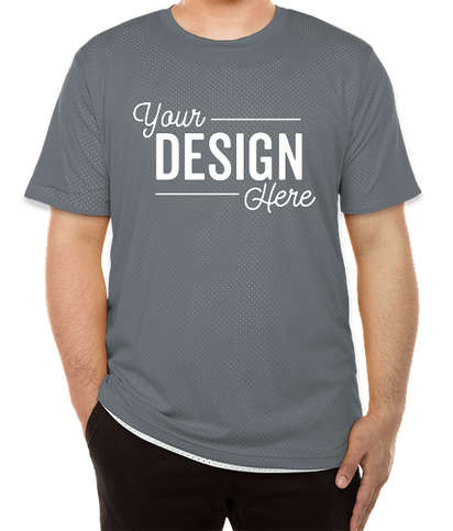 Augusta Short Sleeve Mesh Reversible Jersey - Graphite / White