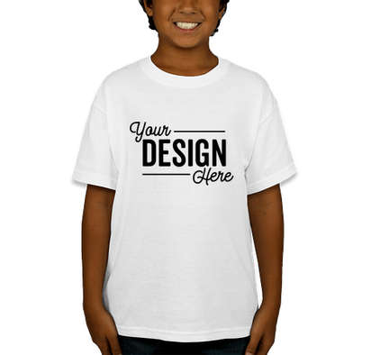 Canada - Gildan Youth DryBlend 50/50 T-shirt - White