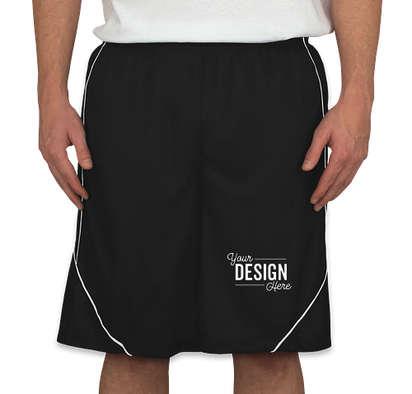 Sport-Tek Micro-Mesh Reversible Contrast Shorts - Black / White