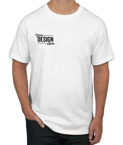 Hanes Beefy Pocket T-shirt - White