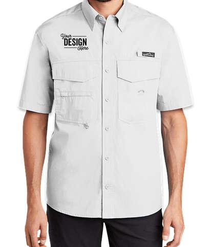 Eddie Bauer Short Sleeve Fishing Shirt - White