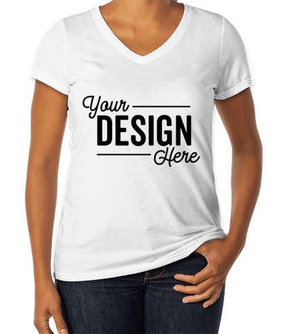 District Women's Tri-Blend V-Neck T-shirt - White