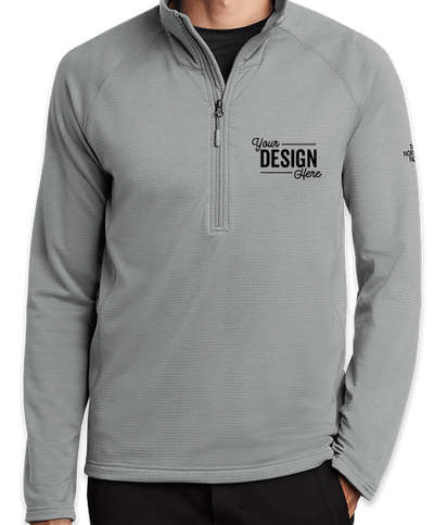 The North Face Mountain Peaks Quarter Zip Fleece Pullover - Mid Grey