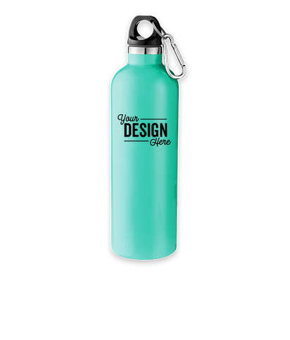 18 oz. Vacuum Insulated Water Bottle with Carabiner - Mint Green