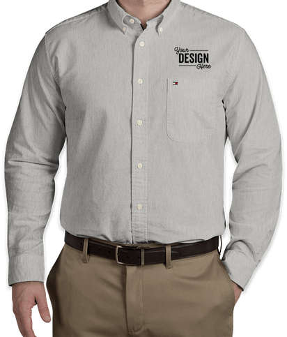 Tommy Hilfiger New England Solid Oxford Shirt - Heather Grey