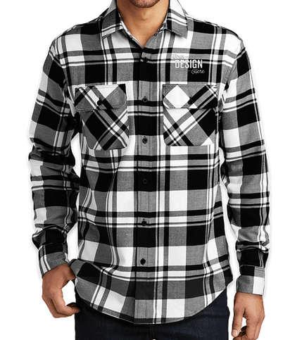 Port Authority Plaid Flannel Shirt - Snow White / Black