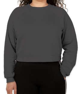 Bella + Canvas Women's Cropped Crewneck Sweatshirt