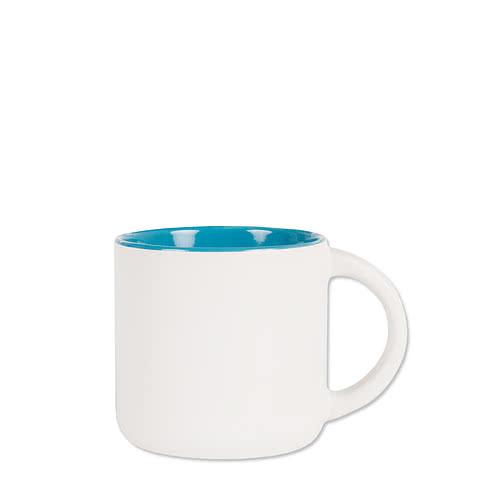 14 oz. Ceramic Two-Tone White Minolo Mug