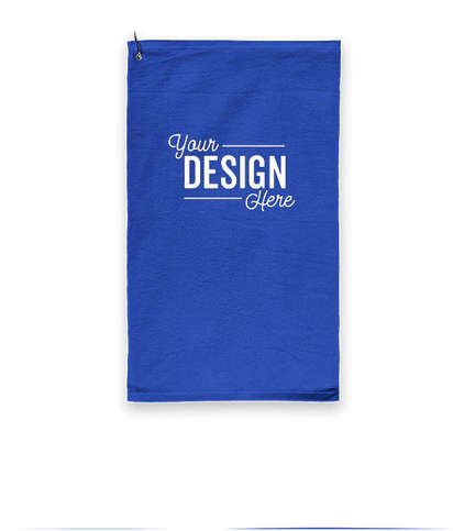 Port Authority Grommeted Microfiber Golf Towel - Royal
