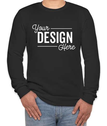 Royal Apparel USA-Made 50/50 Crewneck Sweatshirt - Black