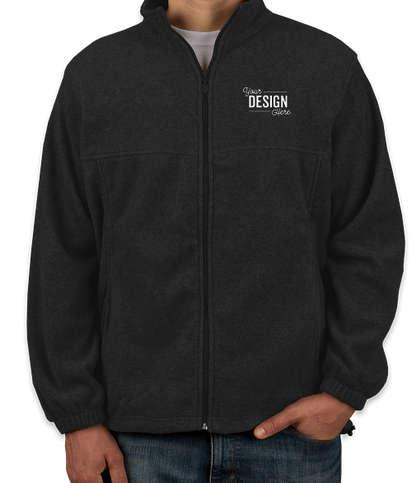 Harriton Full Zip Fleece Jacket - Black
