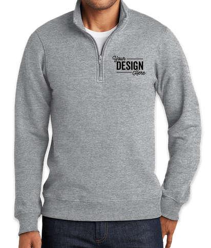 Port & Company Fan Favorite Quarter Zip Sweatshirt - Athletic Heather
