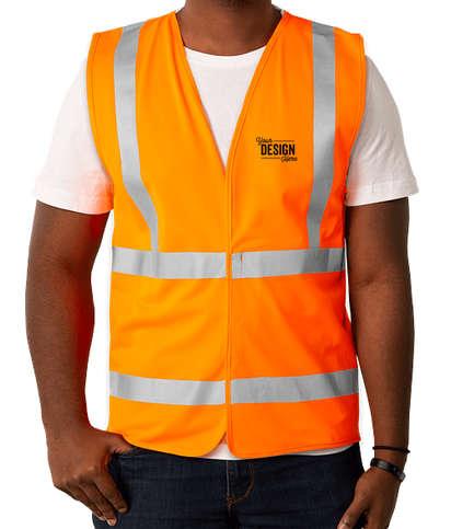 Bayside USA-Made Class 2 Safety Vest - Orange