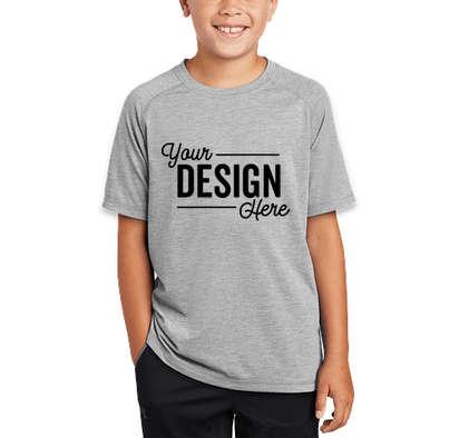 Sport-Tek Youth Tri-Blend Raglan Performance Shirt - Light Grey Heather