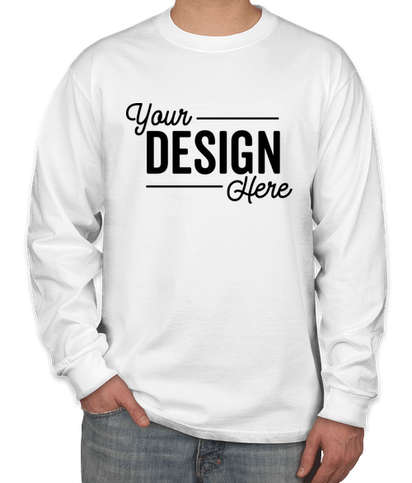 Hanes Beefy Long Sleeve T-shirt - White