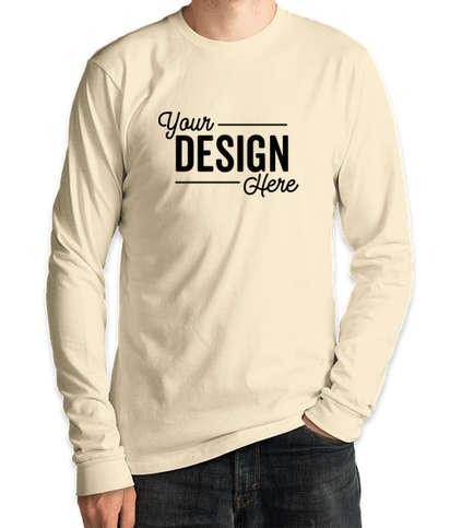 Royal Apparel USA-Made Organic Long Sleeve T-shirt - Natural
