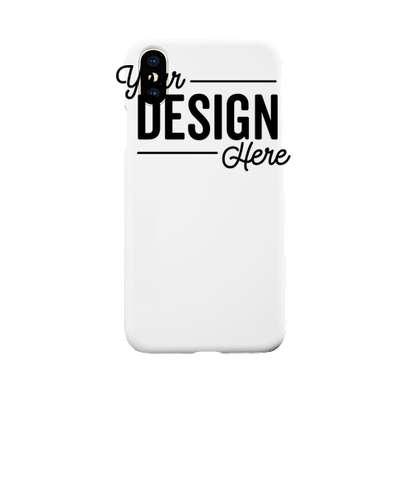 Full Color iPhone XS Slim Phone Case - White