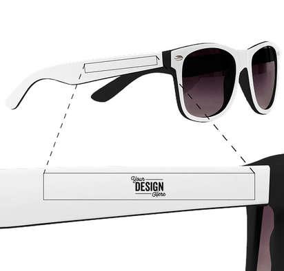 Two-Tone Malibu Sunglasses - Black / White