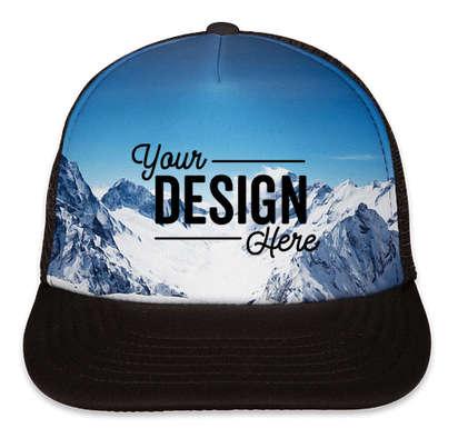 Port Authority Photo Real Snapback Trucker Hat - Snow Caps