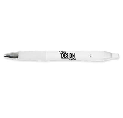 BIC Intensity Clic Gel Pen (black ink) - Solid White