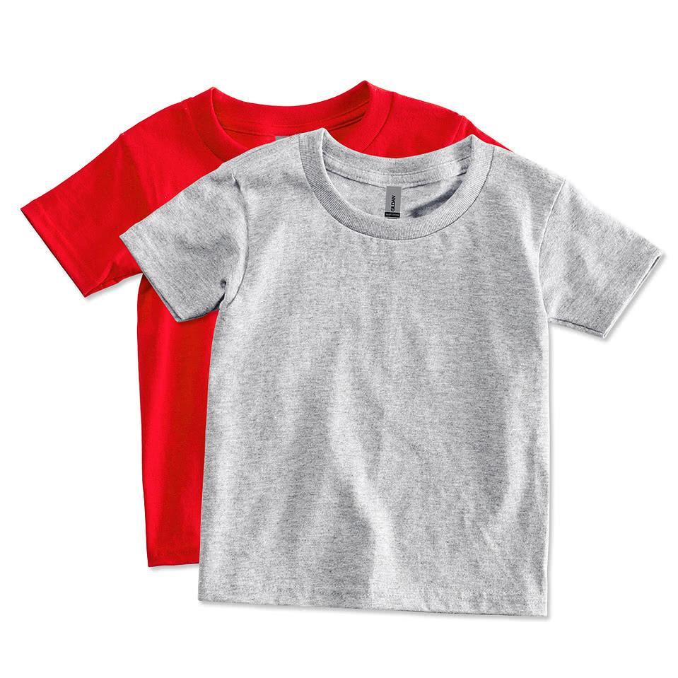 Custom gildan toddler 100 cotton t shirt design for Custom t shirts canada no minimum