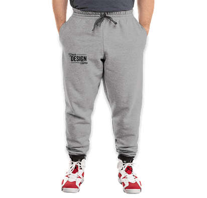 Jerzees Nublend Jogger - Athletic Heather / Charcoal Grey