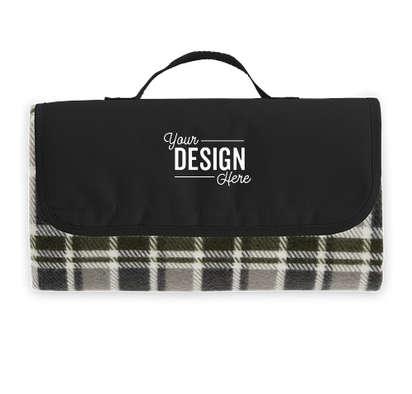 Roll-Up Picnic Blanket - Black / Grey