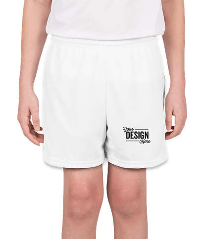 High Five Youth Contrast Performance Shorts - White / White