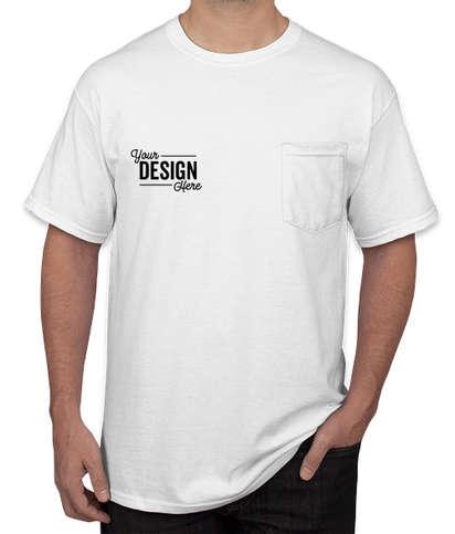 Canada - Gildan Ultra Cotton Pocket T-shirt - White