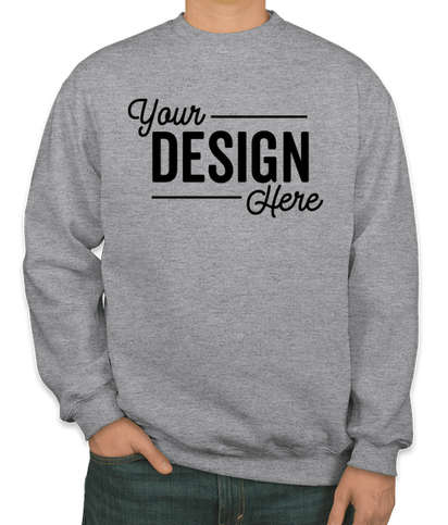 Bayside USA-Made Heavyweight Crewneck Sweatshirt - Dark Ash