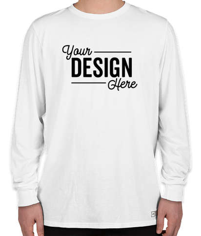 Russell Athletic Essential Performance Blend Long Sleeve T-shirt - White