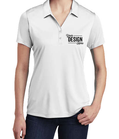 Sport-Tek Women's Competitor Performance Polo - Embroidered - White
