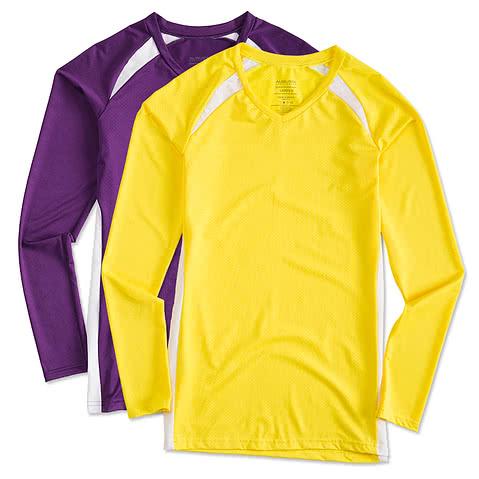 Augusta Juniors Long Sleeve Contrast Volleyball Jersey