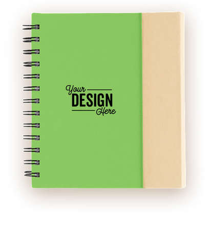 Organized Lock-it Spiral Notebook with Pen - Green