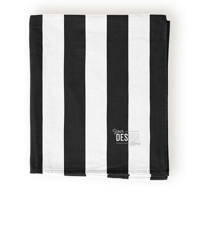 Port Authority Lightweight Embroidered Cabana Stripe Beach Towel - Black