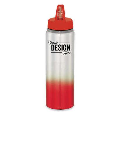 25 oz. Gradient Aluminum Water Bottle - Red