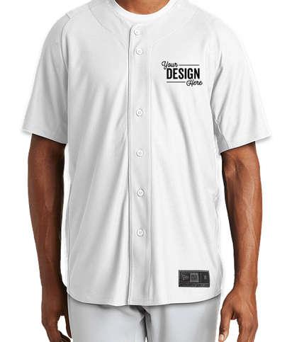 New Era Diamond Era Full Button Baseball Jersey - White