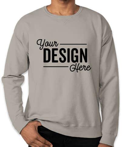 Hanes ComfortWash Garment Dyed Crewneck Sweatshirt  - Concrete Grey