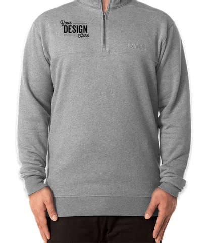 Columbia Hart Mountain Quarter Zip Sweatshirt - Charcoal Heather