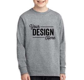Port & Company Youth Core Cotton Long Sleeve T-shirt