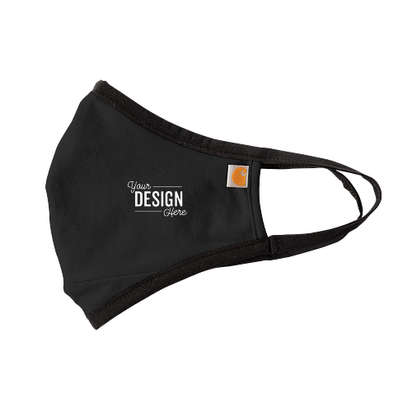 Customized Carhartt Cotton Stretch Face Mask (3 pack) - Black