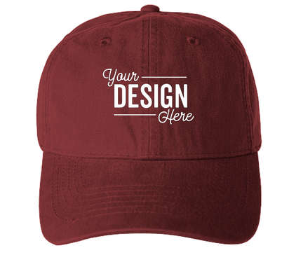 Pacific Headwear Bio-Washed Cotton Buckle Hat - Ruby