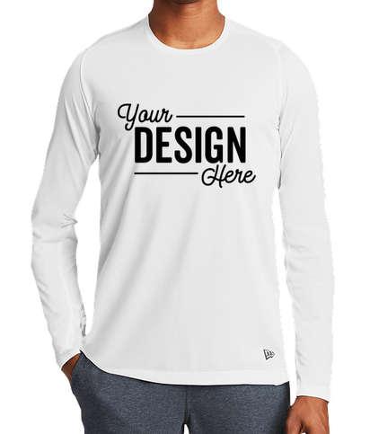 New Era Series Long Sleeve Performance Shirt - White
