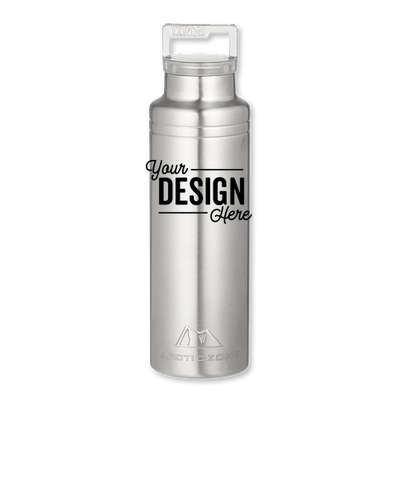 Arctic Zone 20 oz. Copper Vacuum Insulated Water Bottle - Silver